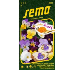 Viola cornuta hybridy / Miniviolka JEDLÉ KVETY, 0,3 g