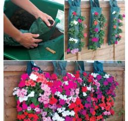 """Květinová taška na zavěšení """"Kaskade""""+ zavlažovač, 5 otvorů pod sebou, 53 x 23 cm"""