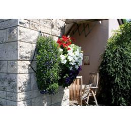 """Květinová taška na zavěšení """"Kaskade""""+ zavlažovač, 8 otvorů, 53 x 23 cm"""