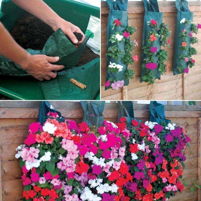 Závěsné květinové tašky a tuby
