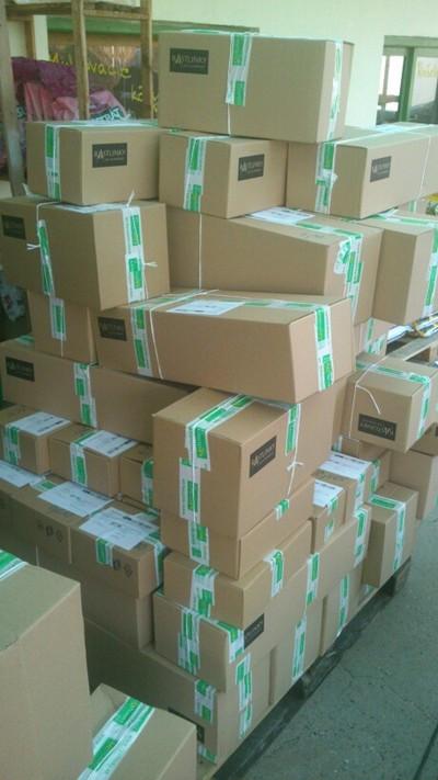 Krabice před expedicí